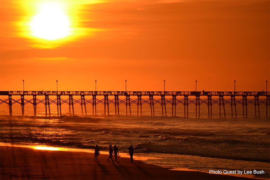 Pier at Sunset | photo courtesy of Photo Quest by Lee Bush